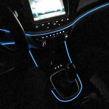 Esnek Neon Araba Iç Atmosfer LED Şerit Işıkları Opel Corsa Için Cabrio Astra Adam Corsa Zafira Mokka Insignia Aksesuarları