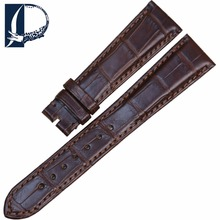 Pesno Brown Super Quality American Alligator Skin Leather Watch Band Strap 18mm 20mm Suitable for Chopard