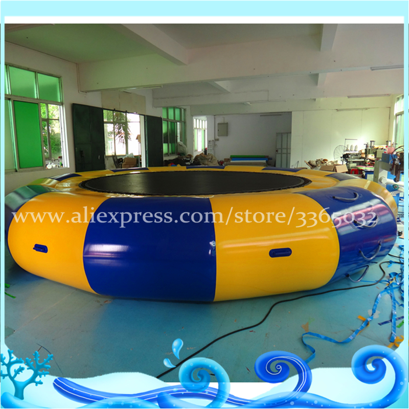 Trampoline Water Bouncer Soft Jumping/ Inflatable Bungee Jumping Trampoline/ inflatable water trampoline hexagonal jumping fitness trampoline with handrail