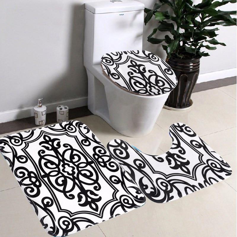 Online kopen wholesale bad rug zwart uit china bad rug zwart groothandel - Deco wc zwart wit ...