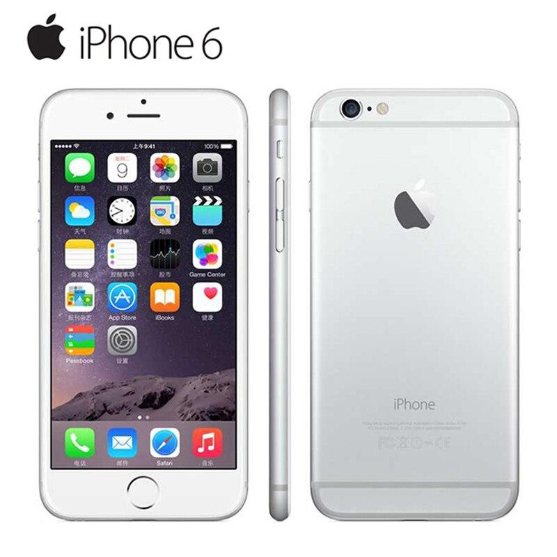 Оригинальный Apple iPhone 6 LTE разблокированный мобильный телефон 1 Гб RAM 16/64/128 ГБ iOS 4,7 '8.0MP двухъядерный WIFI IPS GPS Подержанный телефон - 6