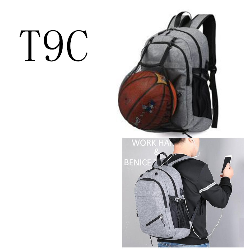 Sport bag  Men Basketball School Bag For Teenage Boys Soccer Ball Pack Laptop Bag Football Net Gym Bag Backpack rucksack