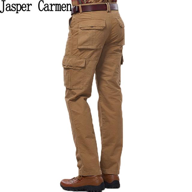 Envío gratis jeep nian marca hombres pantalones largos tamaño 29-42 con bolsillos decoración de primavera y otoño pantalones hombres 100
