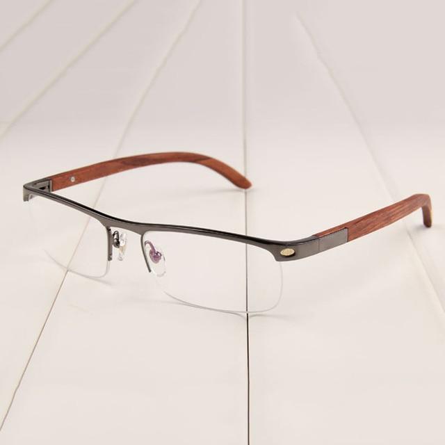 Vazrobe Wooden Eyeglasses Frame Men Gold Glasses Man