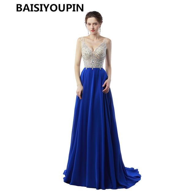 Vestido longos para festa azul royal