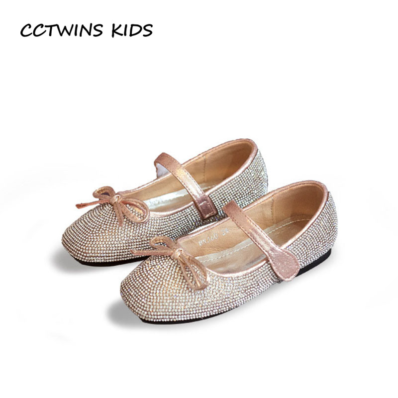 CCTWINS KIDS 2018 Autumn Baby Girl Rhinestone Dance Flat Children Pu Leather Mary Jane Toddler Princess Butterfly Shoe GM2027 wendywu 2017 spring toddler fashion pu leather mary jane baby girl rhinestone princess ballet children heeled shoe black