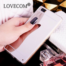 Luxury Aluminum Acrylic Ultra Slim Mirror Soft TPU Protective Phone Case Back Cover Coque For Huawei P8 P9 Lite P9 Plus Cases