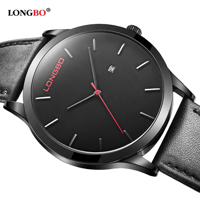 LONGBO Fashion Quartz Watch Men Watches Top Brand Luxury Famous Male Clock Wristwatch For Men Hodinky Relog Relogio Masculino