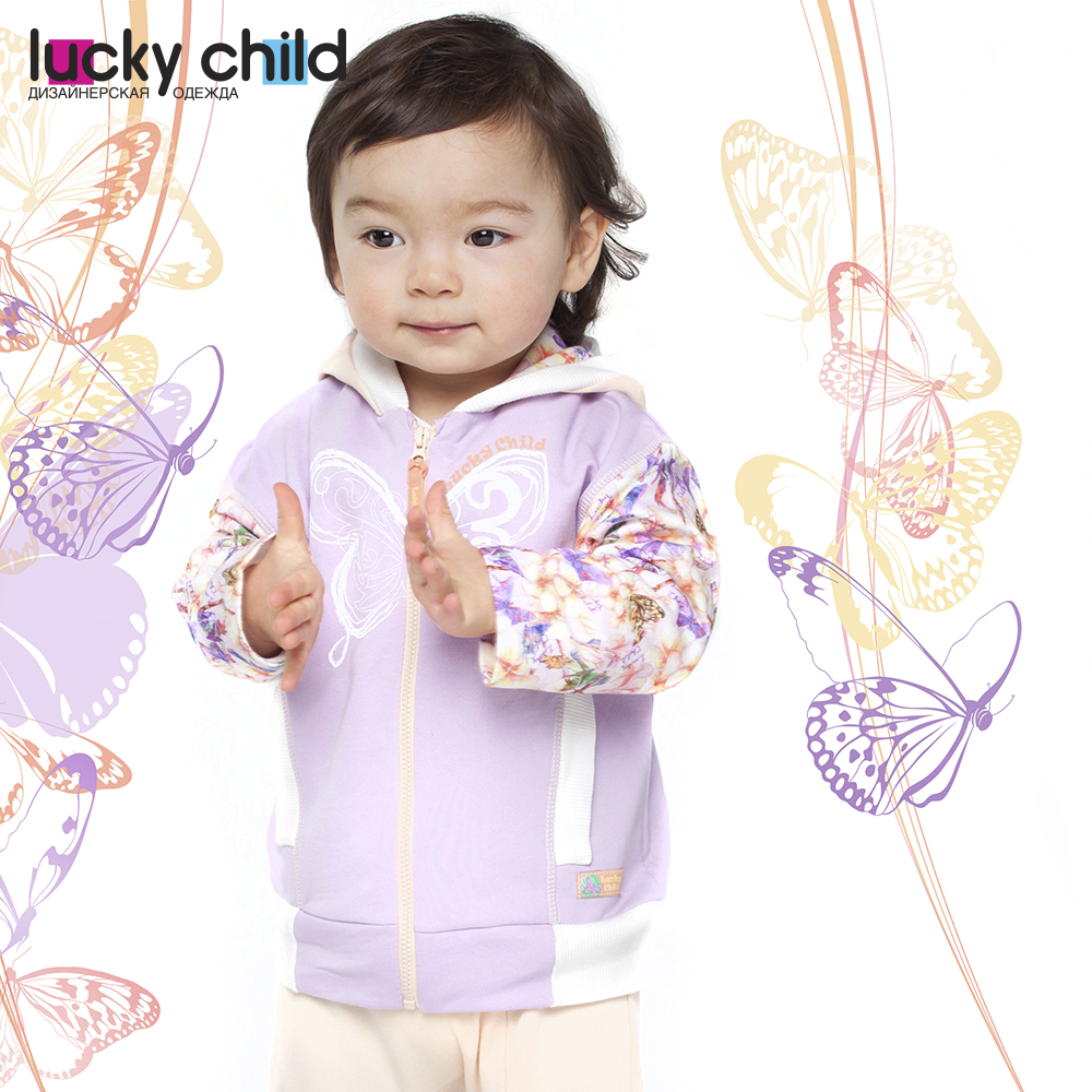 Sweater & Sweatshirts Lucky Child for girls 26-17f  Kids Sweatshirt Baby clothing  Children clothes Jersey Blouse Hoodies girl suit new pattern summer wear children pure cotton twinset child 2 pieces kids clothing sets suits