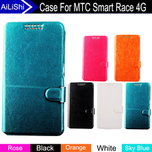 AiLiShi Factory Direct! Case For MTC Smart Race 4G Top Quality Flip Fashion Leather Case Exclusive 100% Special Phone Cover Hot