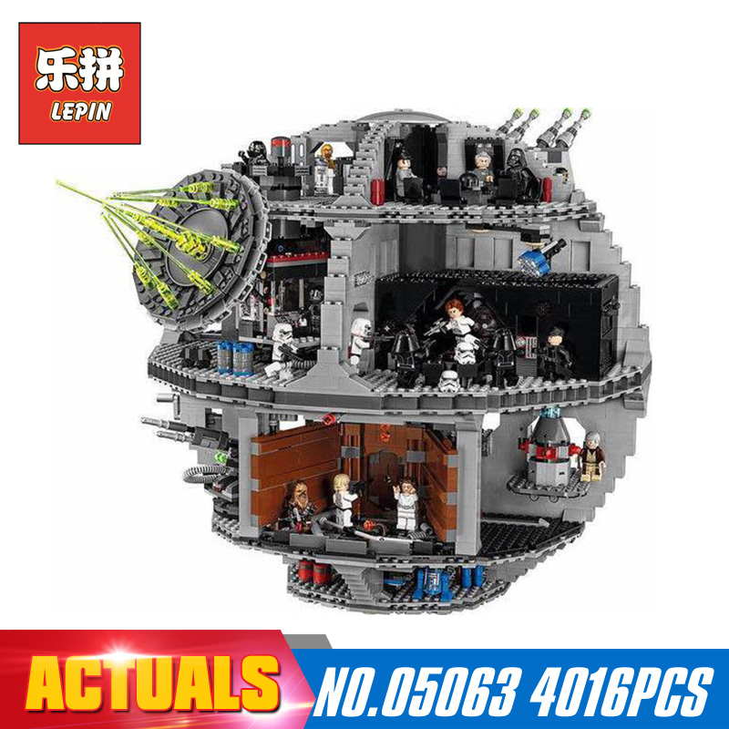 Star 4016Pcs Wars Lepin 05063 the Death UCS Star Building Block Bricks Toys Kits LegoINGlys 75159 for Children Holiday gifts new lepin 05063 4016pcs star wars series death star building block bricks toys kits compatible legoed with 75159