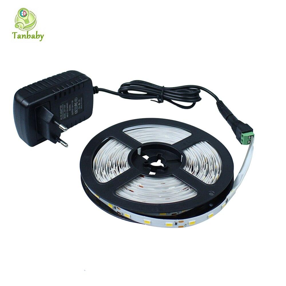 Tanbaby Led light strip SMD 5630 (5730) 5 M 300led DC12V flexible bande corde lumières pas étanche avec alimentation UE/US