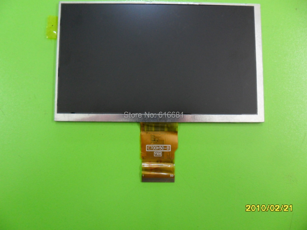 10 pcs/lot 7 inch (1024*600) 50pin LCD screen,100% New display,size:165*100mm / 163*97mm Tablet PC LCD screen for C700H50-B
