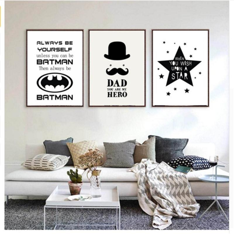 Nordic black white inspirational quotes creative heroes for Decoration murale wish