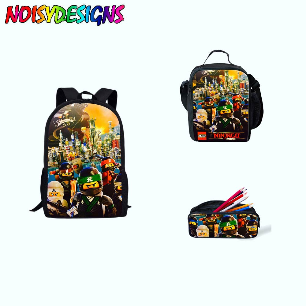 Luggage & Bags 3pcs/set Ninjago Games Backpack Children School Bags Set For Teenage Girls Boys Student Rucksack Book Bag Mochila Drop Shipping School Bags