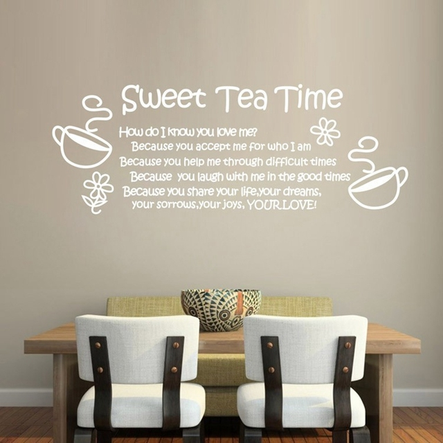 Amazon Stickers Muraux ebay/amazon hot love thanksgiving quote sweet tea time removable