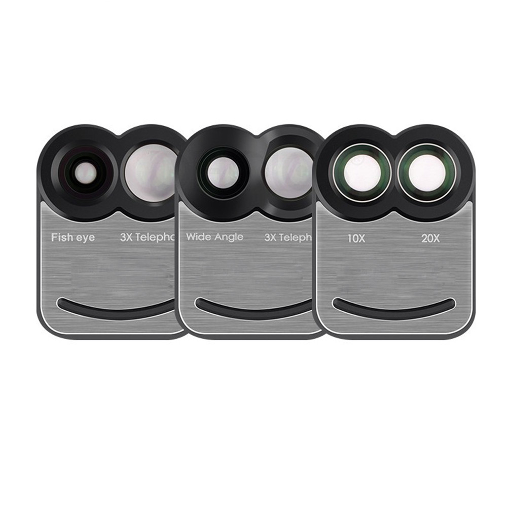17 New For iPhone 7 Plus 7Plus Dual Phone Camera Lens Fisheye Wide Angle Macro Telescope Camera Phone Lens with Phone Case 8