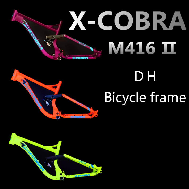 X-CO B RA  Bicycle Frame include ROCKSHOX KAGE RC Original Bike Bicycle Downhill DH FR Frame  Aluminum Alloy 8 inches travel+ 5pcs set professional makeup brushes waistline cosmetic brush make up tool kit foundation brush pink