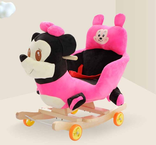 Baby swing Plush Bear Toy Rocking Chair Baby Bouncer baby Swing Seat Outdoor Baby Bumper Kid Ride On Toy Rocking Stroller Toy 4