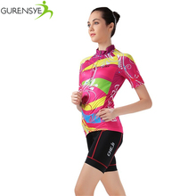 Gurensye brand new arrival Colorful Cycling jersey women bike female maillot bicycle clothing outdoor sport clothes