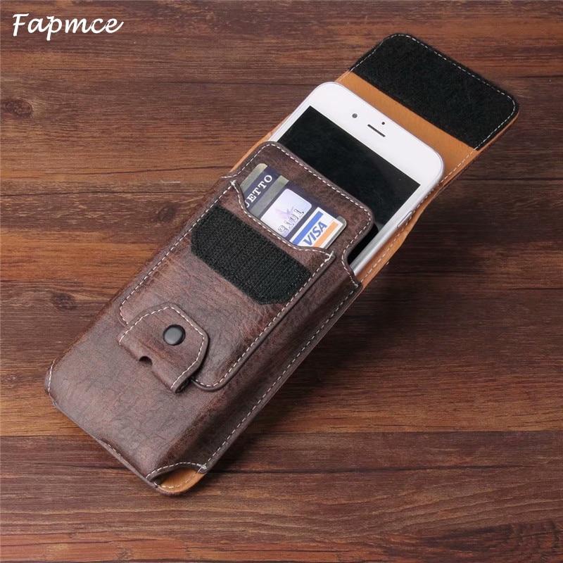 Universal Belt Clip Leather Wallet Phone Bags Case For Meizu 16 15 Plus  Lite M6T M8c E3 M6s M6 Note