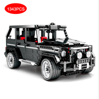 Legoing Technic Series Power Functions Banz G500 SUV Racing Speed Car Simulation Model Blocks Toys Compatible LEGOings Cars Sets