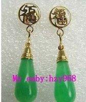 free shipping Fashion GP Green Earring