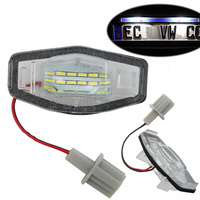 1Pair Canbus Error Free LED License Plate Light For Honda Civic Pilot Accord Odyssey Acura MDX