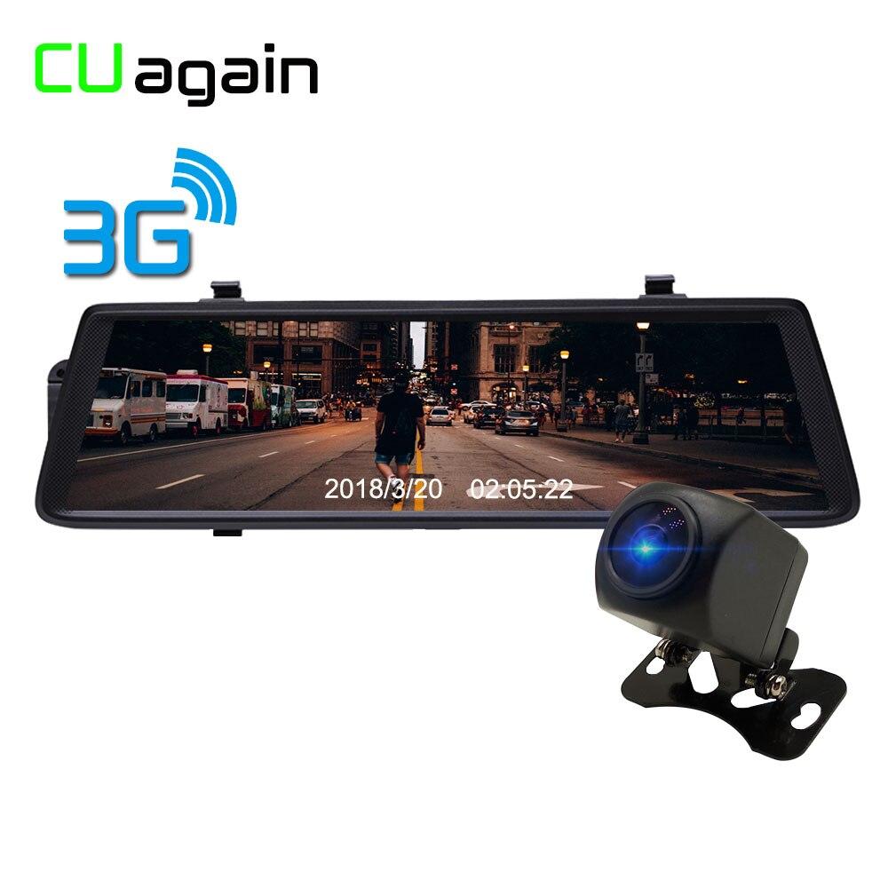 CUagain CUV6 10 ''Espelho DVR Carro Traço Cam 3G Wi-fi GPS Android Câmera Do Carro 1080 P FHD Gravador de Lente Traseira Do Carro Navegação Secretário