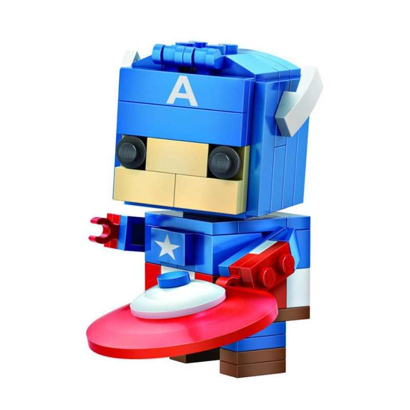 LOZ واحدة بيع كابتن أمريكا أعجوبة المنتقمون بطل السوبر عمل دمية 142 قطعة الطوب ألعاب مكعبات البناء للأطفال 1401