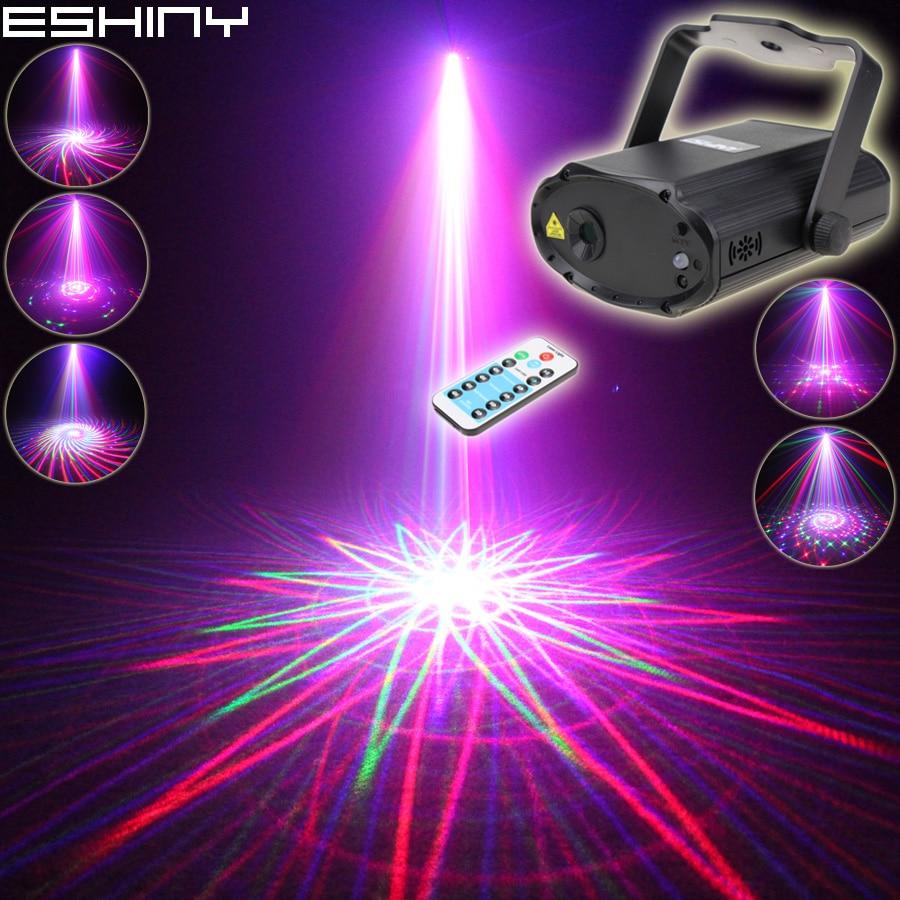 ESHINY Remote MINI RGB Laser 12 Patterns Projector DJ Environment Dance Disco Bar Family Party Xmas