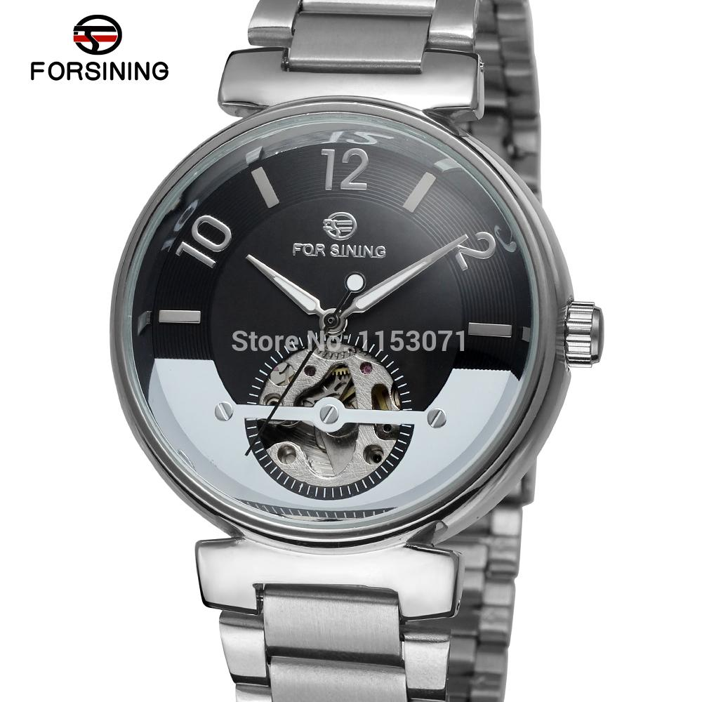 ФОТО FSG8070M4S2  Forsining Automatic self-wind dress fashion skeleton watch for men with analog display gift box  free shipping