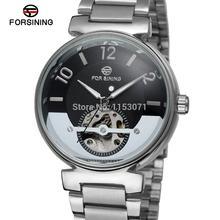 FSG8070M4S2 Forsining Автоматическая self-ветер платье мода скелет часы для мужчин с аналоговым дисплеем подарочная коробка бесплатная доставка