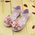 2016 spring and summer Genuine leather Pearl Flower Children Girls Shoes Bow Sandals Princess Shoes Girls Party Shoes CS3156