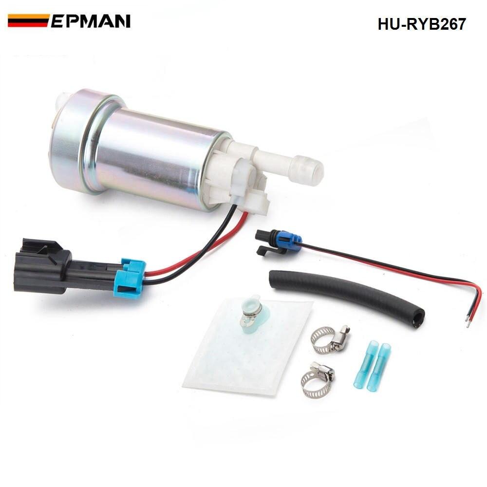 E85 Racing In tank 450 LPH high pressure fuel pump with 400-0085 installation HU-RYB267 lzone e85 racing high performance internal fuel pump 450lph f90000267