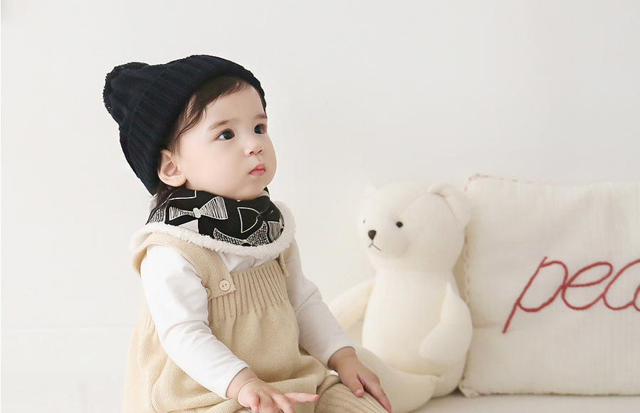 INS moda invierno Bebé saliva toalla patrón geométrico babero añadir ...