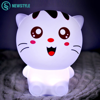 DC5V USB Charging Cat LED Night Light 1200mAh Touch Led Sensor Lights Remote Control Desk Lamps