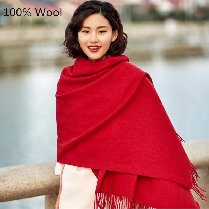 2017 Fashion Autumn Winter Brand Wool Scarf Warm Thick Multi Colors Wool Shawl Women Scarf Soft