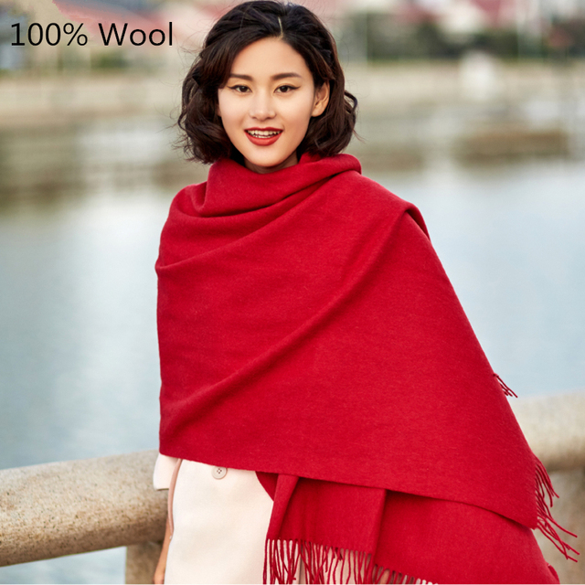 2017 Fashion Autumn Winter Brand Wool Scarf Warm Thick Multi Colors Wool Shawl Women Scarf Soft Scarves Free Shipping
