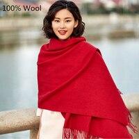 2016 Fashion Autumn Winter Brand Wool Scarf Warm Thick Multi Colors Wool Shawl Women Scarf Soft