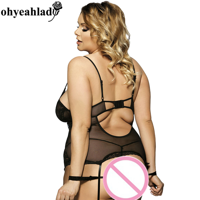 Ohyeahlady Multiple colors lingerie open crotch teddy lingerie RS7600 M – 6XL plus size lingerie