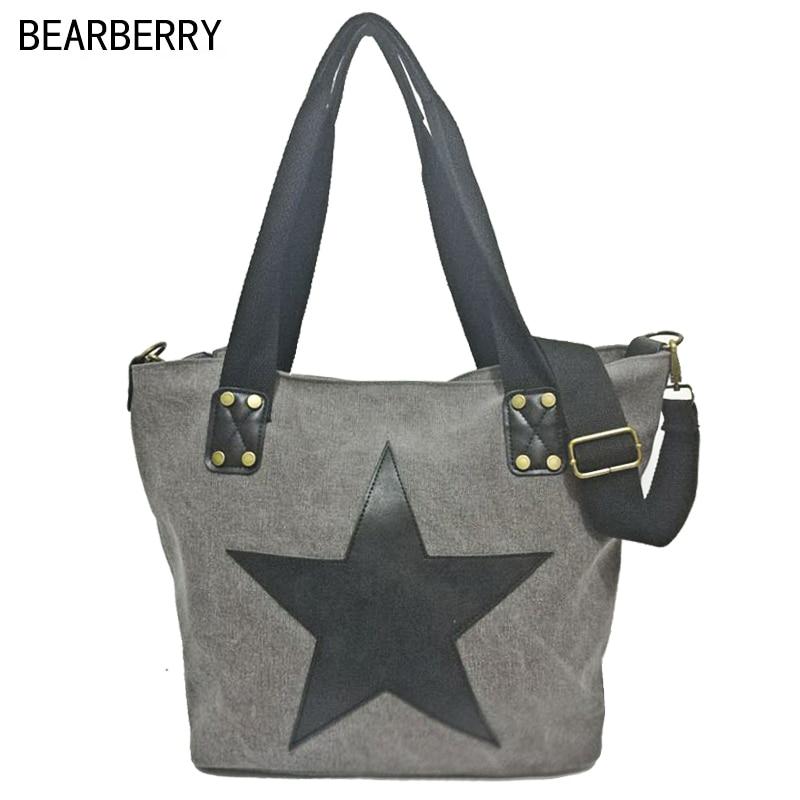 bearberry 2017 grande estrela impressÃo Star Plus Size Feminina Bolsos : Women Messenger Crossbody Bags
