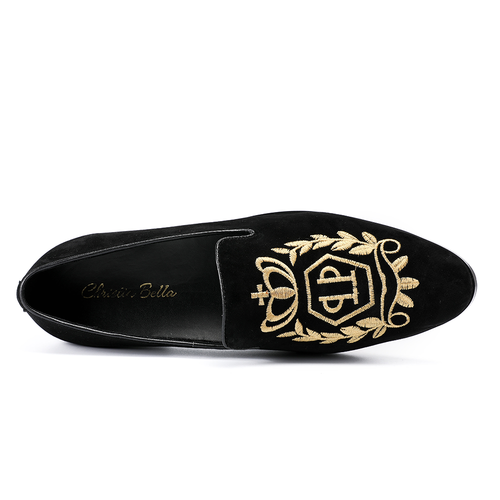 bd24a96e851fe Christia Bella India Handmade Luxurious Embroidery Men Velvet Shoes Men  Dress Shoes Banquet and Prom Male Plus Size Loafers-in Formal Shoes from  Shoes on ...