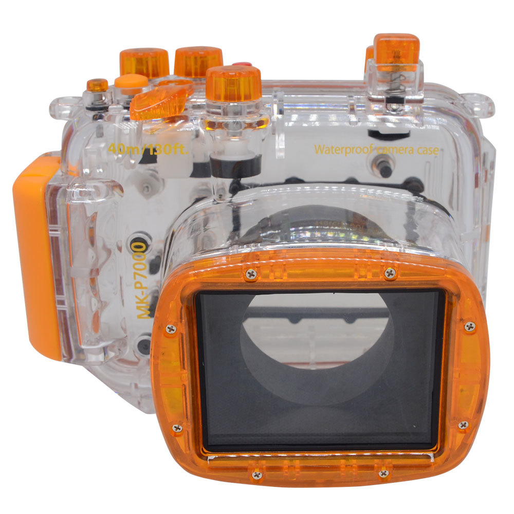 Mcoplus 40M 130ft Waterproof Underwater Diving Housing Case for Nikon Coolpix P7000 Digital Camera wit color eco solvent dx7 print head adapter f189010 f189000 f196000 f196010 printhead cover manifold xenons dx7 head cover
