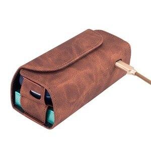 Image 2 - Mode Flip Doppel Buch Abdeckung für 3,0 Fall Tasche Tasche Halter Abdeckung Brieftasche Leder Fall für iqos 3