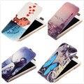 Para asus zenfone 3 max zc520tl caso vertical, moda impresso borboleta azul da aleta de couro pu caso do telefone móvel