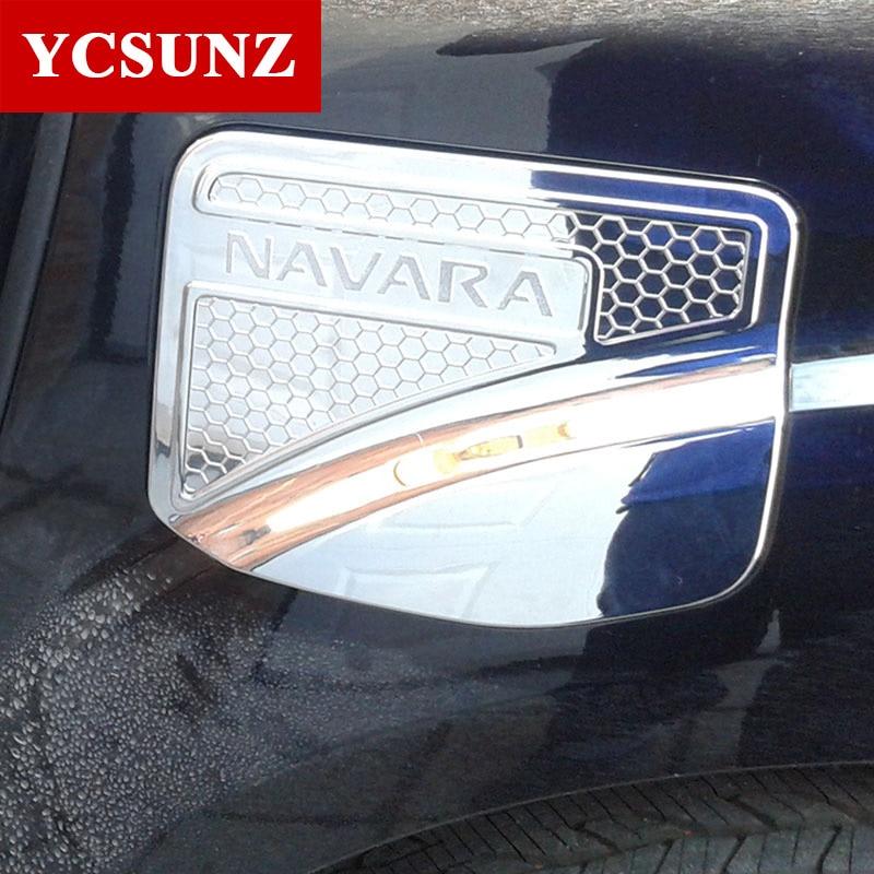 Prix pour 2017 Pour Nissan Navara Np300 Accessoires Du Réservoir de Carburant Bouchon garniture Pour Nissan Navara Np300 2014-2016 Car Styling Plaque Auto pièces