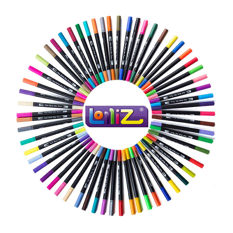 LolliZ 60 Colors Artist Double Headed Markers Set Dual Tip Soft Head Design Paint Sketch Manga Markers for Art Supplies maurice lacroix eliros el1094 sd501 110 1