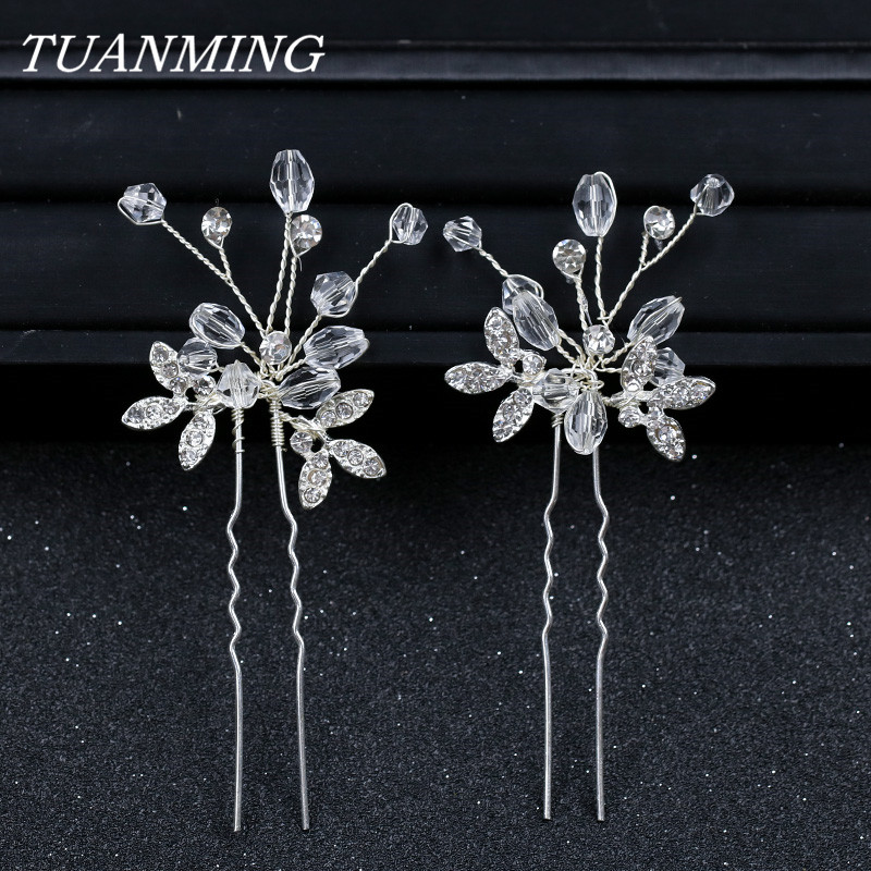 Girls Letters Pearl Shinning Hairpins Silver Golden Star Crystal Blink Hair Clip