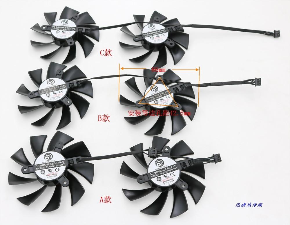 New Original for EVGA GTX760 / 770/780 / 780Ti / TiTAN / TiTANX ACX COOLING graphics card fan MSI PLA09215B12H 12V 0.55A 75mm power logic pld08010s12hh 4pin cooling fan for msi gtx 560 570 r6950 gtx460 gtx 560 twin frozr ii graphic card cooler fan